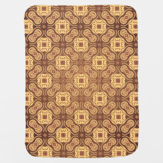 Colorful retro pattern background baby blanket