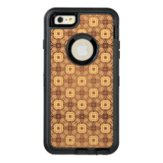 Colorful retro pattern background OtterBox defender iPhone case