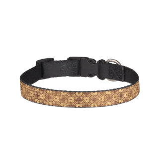 Colorful retro pattern background pet collar