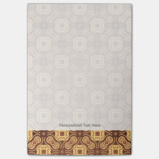 Colorful retro pattern background post-it notes