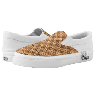Colorful retro pattern background Slip-On shoes