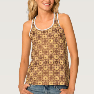 Colorful retro pattern background tank top