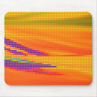 COLORFUL RETRO RAINBOW DOTS ART MOUSEPAD
