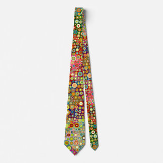 Colorful retro spots pattern + your ideas tie
