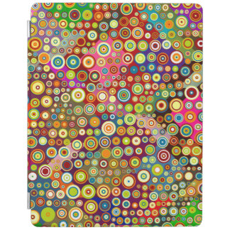 Colorful Retro Spots + your idea iPad Cover