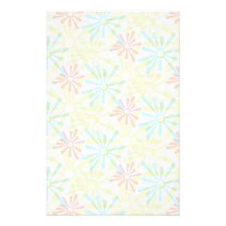 Colorful retro Starburst pattern Personalized Stationery