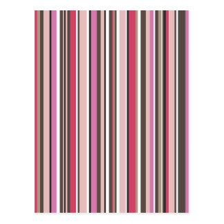 Colorful Retro Striped Postcard