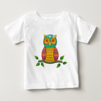colorful retro style owl design baby T-Shirt