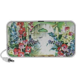 Colorful Retro Style Vintage Country Flower Garden Travel Speaker