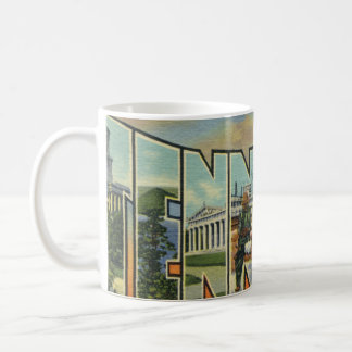 Colorful Retro Tennessee Artwork Coffee Mug