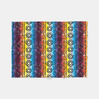 Colorful Retro Tie Dye Design Fleece Blanket