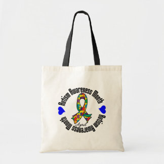 Colorful Ribbon - Autism Awareness Month Canvas Bag