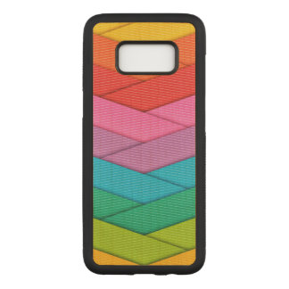 Colorful Ribbon Pattern Carved Samsung Galaxy S8 Case