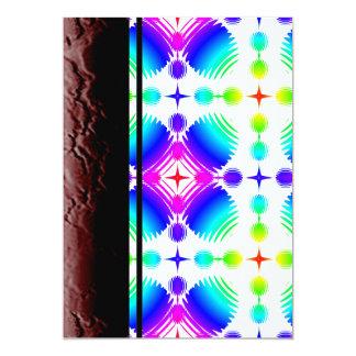 Colorful Ripples Big Transparent 13 Cm X 18 Cm Invitation Card