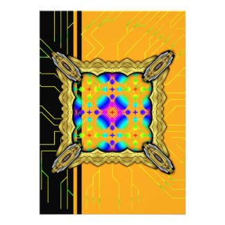 Colorful Ripples Big Transparent Custom Invite