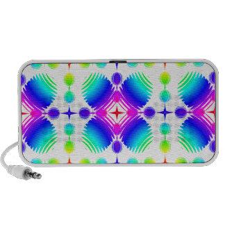 Colorful Ripples Big Transparent Portable Speakers