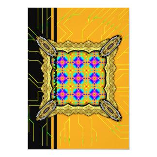 Colorful Ripples Small Transparent 13 Cm X 18 Cm Invitation Card