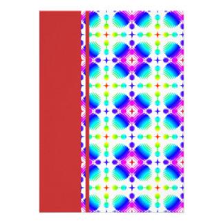 Colorful Ripples Small Transparent Invite