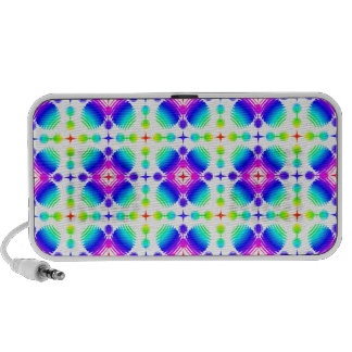 Colorful Ripples Small Transparent PC Speakers