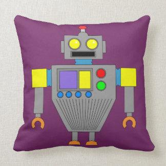 COLORFUL ROBOT (LILAC) Throw Pillow