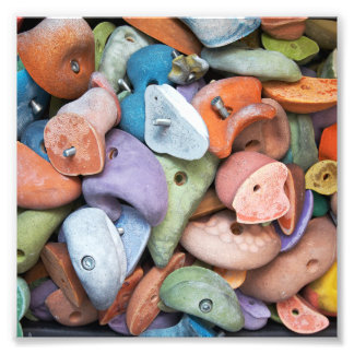 Colorful Rock Wall Attachments Photographic Print