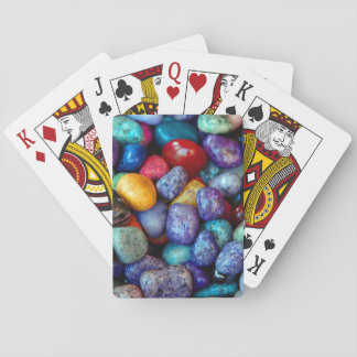 Colorful rocks playing card