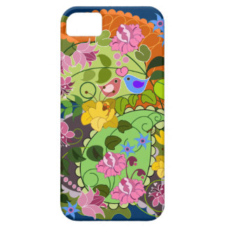 Colorful Romantic faux Vintage Floral & swirls Case For The iPhone 5