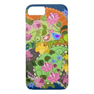 Colorful Romantic faux Vintage Floral & swirls iPhone 8/7 Case