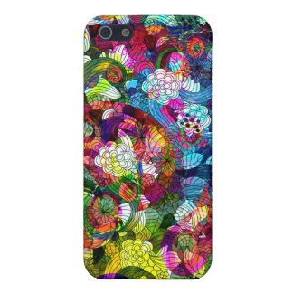 Colorful Romantic Floral Swirls Collage Case For The iPhone 5