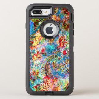 Colorful Romantic Grungy Vintage Floral Collage OtterBox Defender iPhone 8 Plus/7 Plus Case