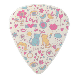 Colorful romantic pattern acetal guitar pick