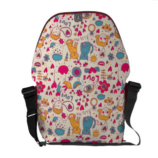 Colorful romantic pattern commuter bags