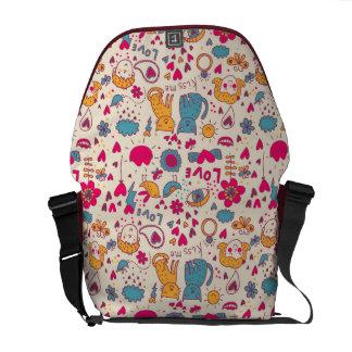 Colorful romantic pattern commuter bags