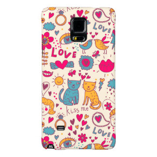 Colorful romantic pattern galaxy note 4 case