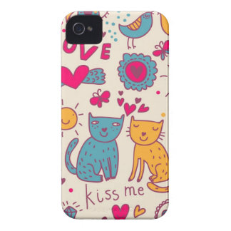 Colorful romantic pattern iPhone 4 Case-Mate cases