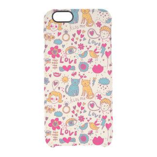 Colorful romantic pattern iPhone 6 plus case
