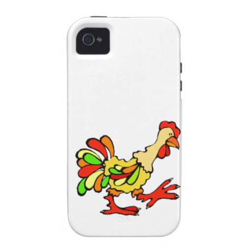 Colorful Rooster iPhone 4 Case