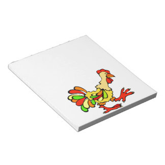 Colorful Rooster Notepad