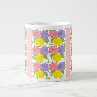 Colorful Roses and Vines Jumbo Mug