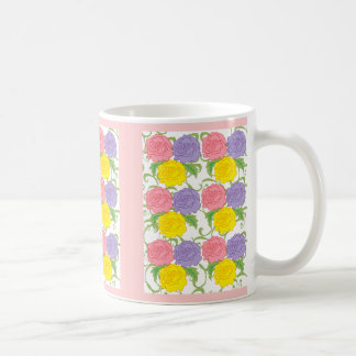 Colorful Roses and Vines Classic White Coffee Mug