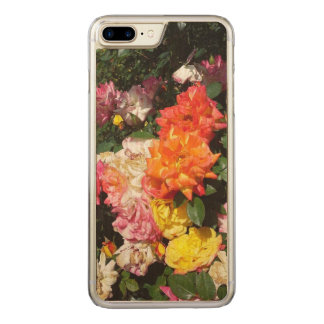 Colorful Roses Carved iPhone 8 Plus/7 Plus Case