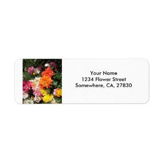 Colorful Roses Return Address Label