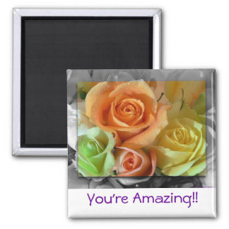 Colorful Roses-Magnet Square Magnet