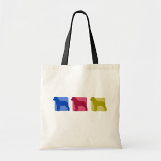 Colorful Rottweiler Silhouettes Bag