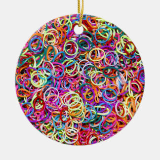Colorful Rubberbands Christmas Ornament