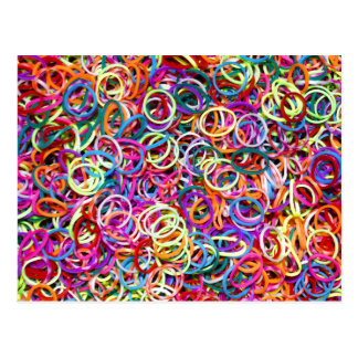 Colorful Rubberbands Postcard