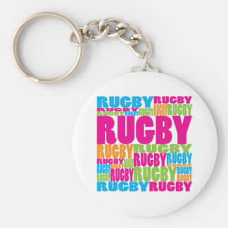 Colorful Rugby Key Ring