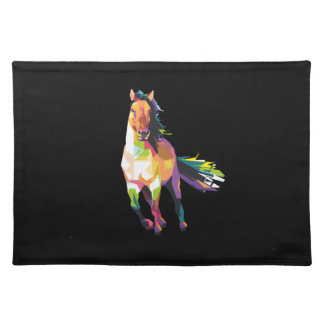 Colorful Running Horse Stallion Equestrian Placemat