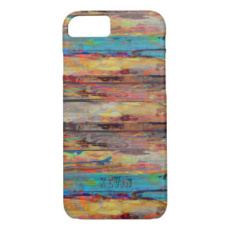 Colorful Rustic Painter Wood Boards iPhone 8/7 Case
