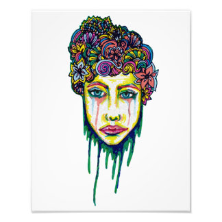 Colorful Sadness Photographic Print